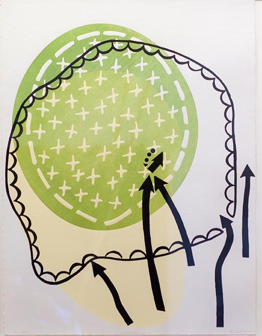 Elaine Shemilt Manoeuvre III Woodcut, screenprint on paper Edition of 3 © Cultural Documents 2014