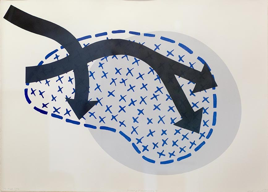 Elaine Shemilt Manoeuvre IV Woodcut, screenprint on paper Edition of 3 © Cultural Documents 2014
