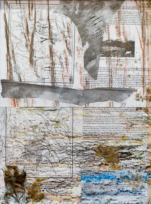 Elaine Shemilt Winterline Sketches 12 Collaged mixed media on paper © Cultural Documents 2014