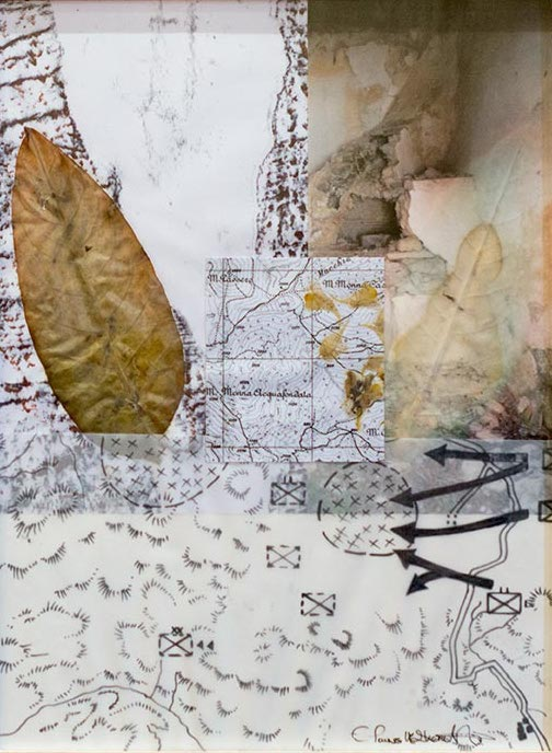 Elaine Shemilt Winterline Sketches 13 Collaged mixed media on paper © Cultural Documents 2014