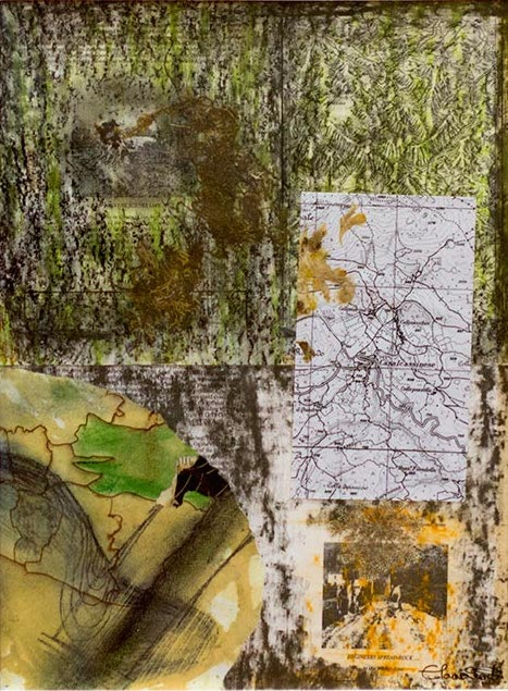 Elaine Shemilt Winterline Sketches 18 Collaged mixed media on paper. © Cultural Documents 2014