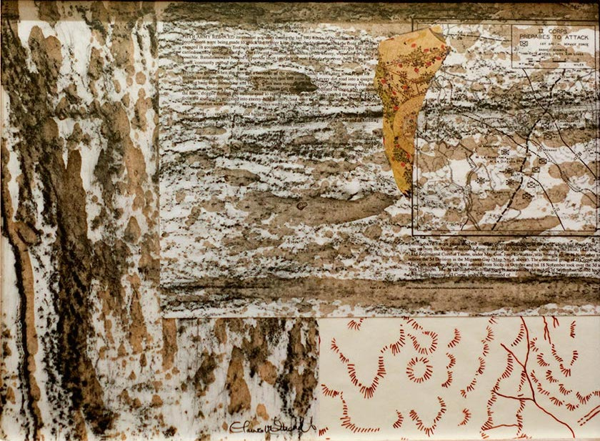 Elaine Shemilt Winterline Sketches 2 Collaged mixed media on paper © Cultural Documents 2014