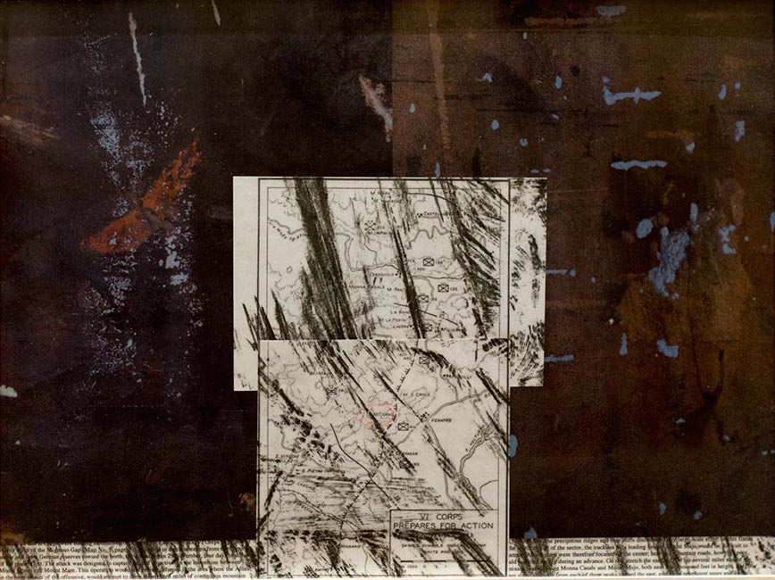 Elaine Shemilt Winterline Sketches 5 Collaged mixed media on paper © Cultural Documents 2014