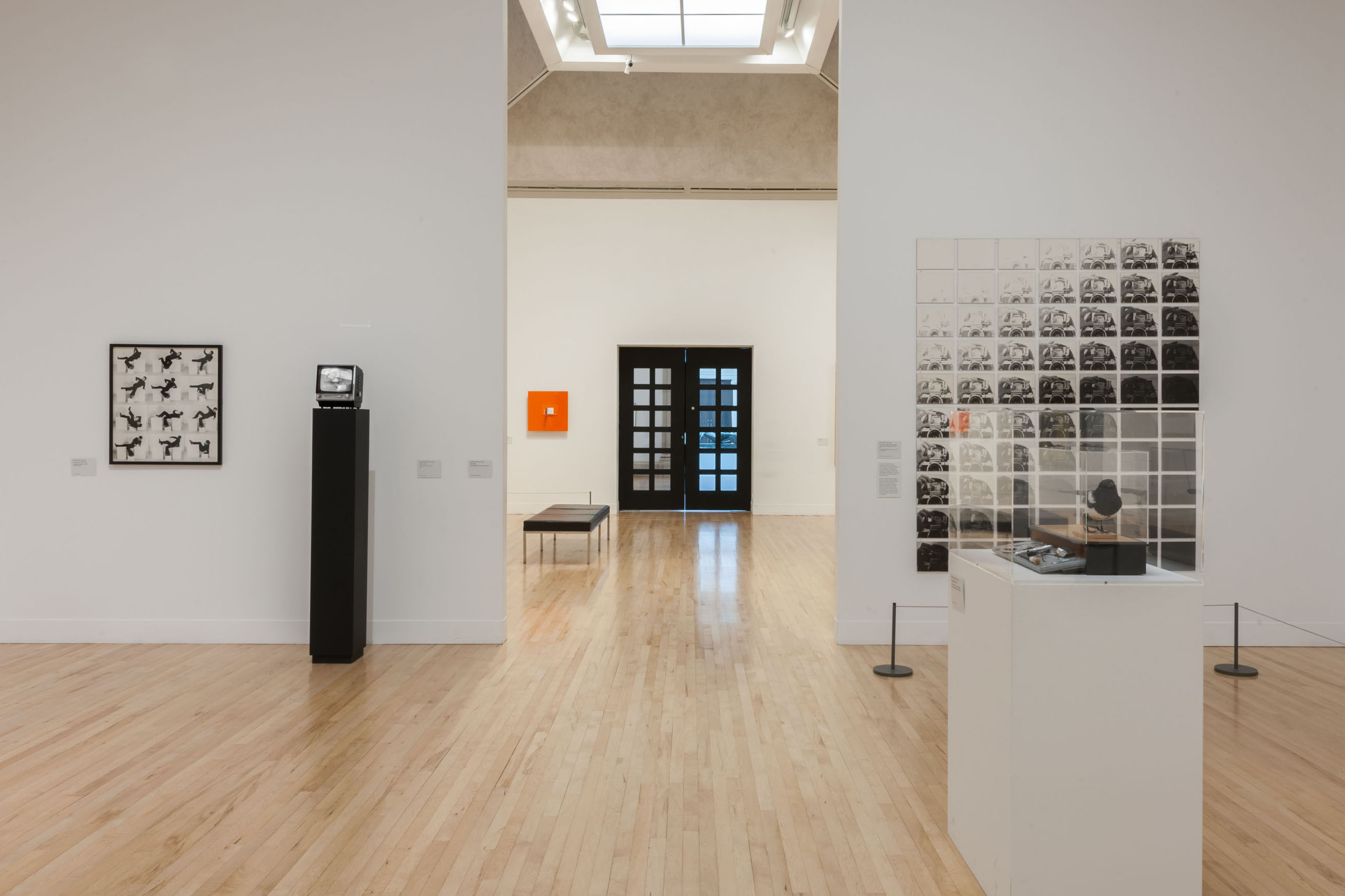 installation view Tate Britain: Stephen Partridge 'Monitor' 1974 Video, monitor, black and white Collection Tate Britain © Cultural Documents and Lucy Dawkins