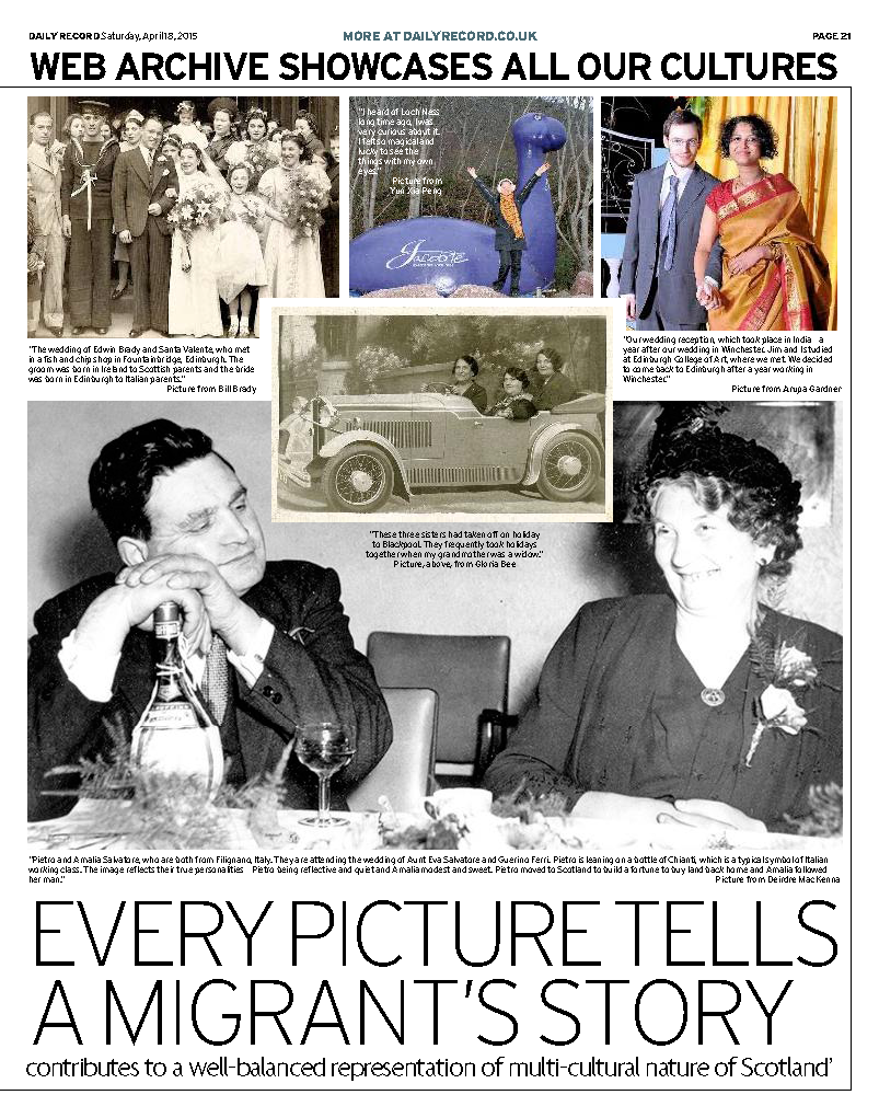 image: Daily Record newspaper 18.04.2015