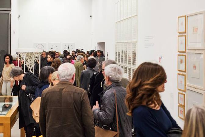 Opening of the exhibition  'Dall'oggi al domani. 24 ore nell'arte contemporanea'  curated by Antonella Sbrilli and Maria Grazia Tolomeo at MACRO Via Nizza, 01 May - 02 October 2016. ©GiorgioCoenCagli.jpg