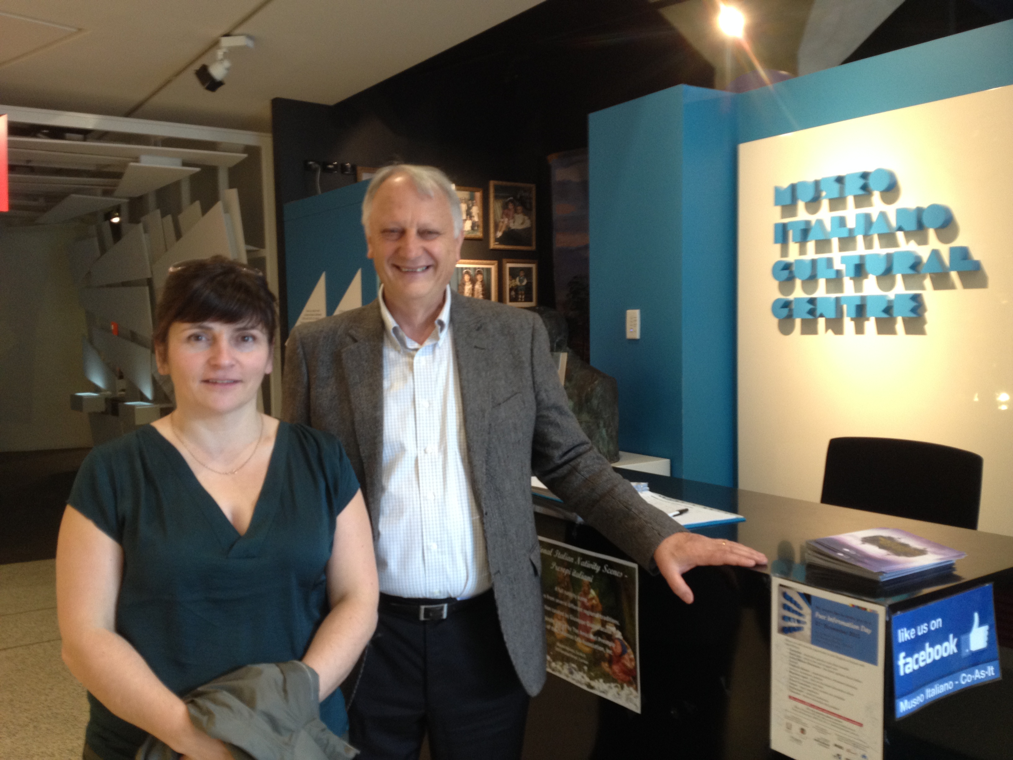 Director Ferdinando Colarossi and Deirdre Mackenna at the Museo Italiano, Melbourne 11.12.2015 © Cultural Documents