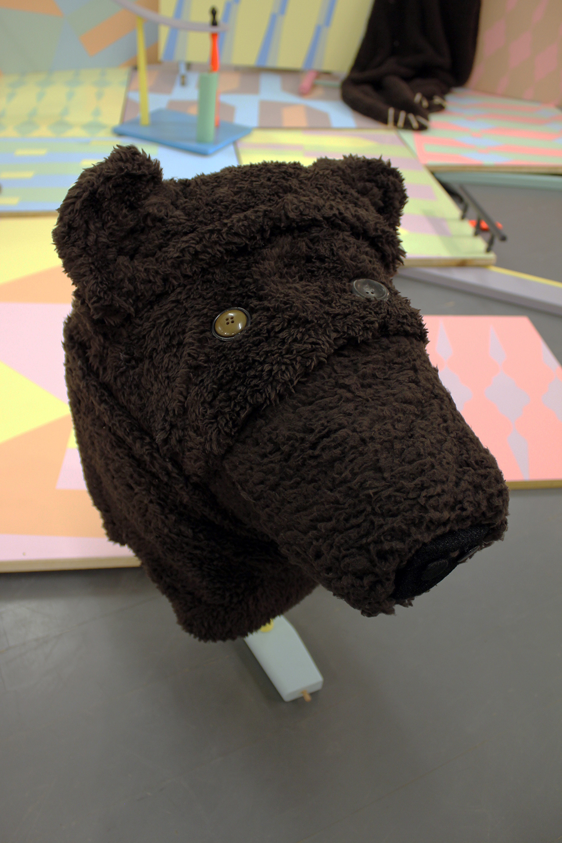 detail: Danny Holcroft 'Bear Costume' mixed media 190 x 70 x 30cm 2016 © Cultural Documents