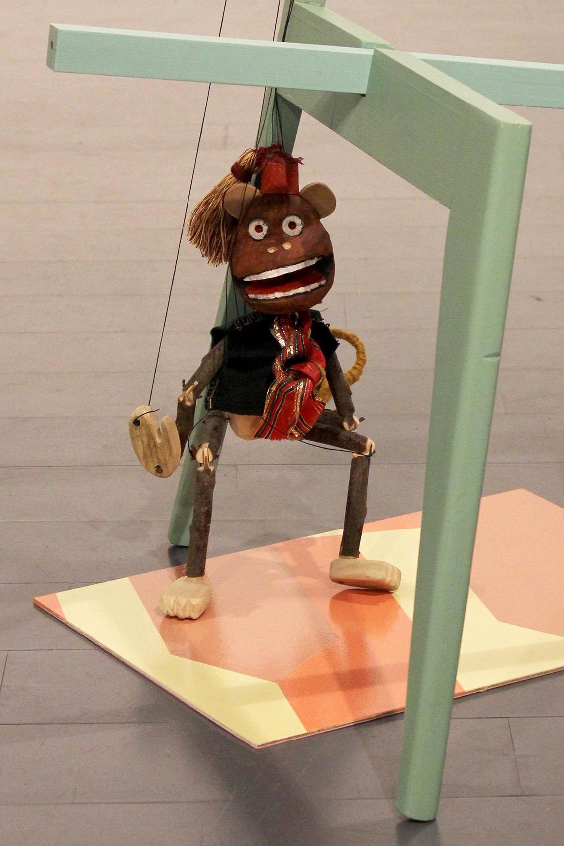 detail: Danny Holcroft 'Monkey Puppet' Monkey puppet with chair, mixed media 80 x 60 x 50cm 2016 © Cultural Documents
