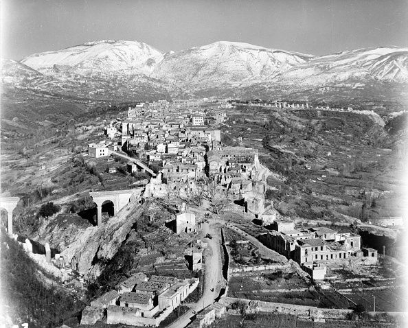 Margaret Bourke-White photograph Aerial view of a battle-damaged town in central Italy February 1944 © The LIFE Picture Collection and Getty Images