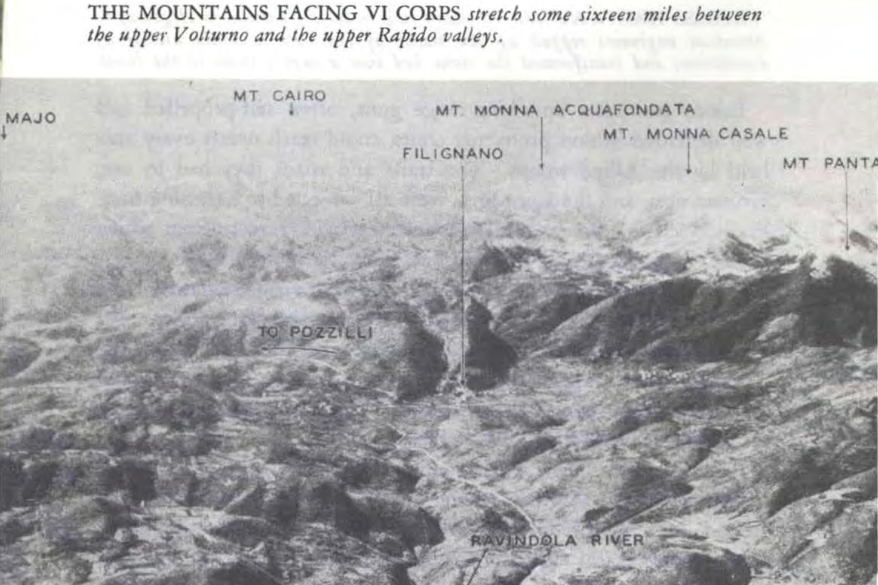 Caiazzo. Monte Carmignano. Prov Caserta. 13.10.1943
