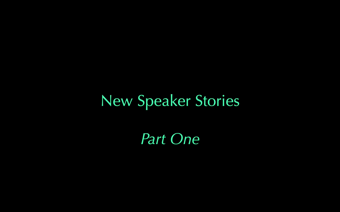 still image from 'New Speaker Stories' a 20 minute film by Deirdre MacKenna 2017 © Cultural Documents and COST New Speakers Network