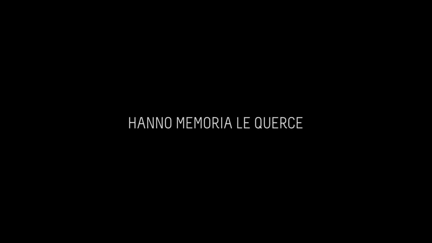 still image from the film: Hanno Memoria le Querce © Massimiliano Gatti e Massimo Leonardi. 2018