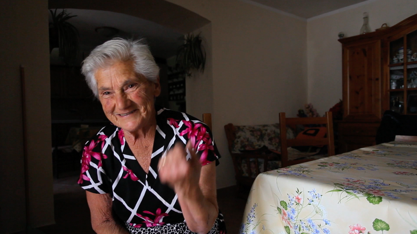 still image of Gina Di Meo from the series of research interviews made by Valentina Bonizzi and Deirdre MacKenna in 2012 © Valentina Bonizzi and Cultural Documents