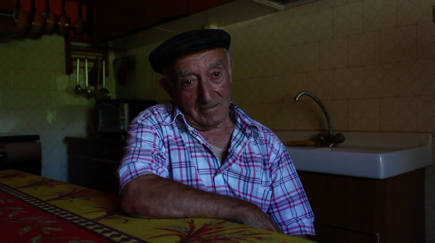 still image of Pietro Di Meo from the series of research interviews made by Valentina Bonizzi and Deirdre MacKenna in 2012 © Valentina Bonizzi and Cultural Documents