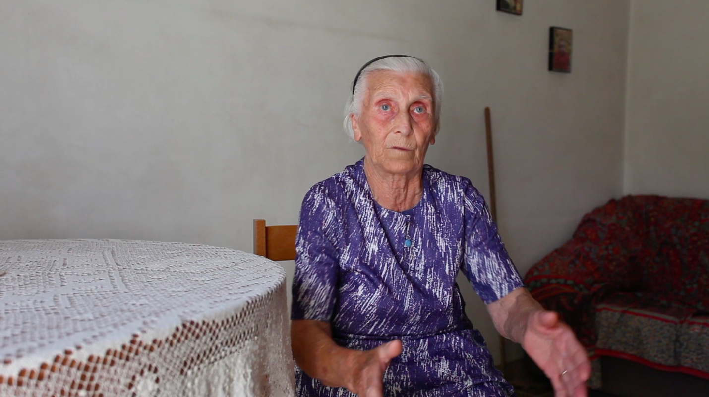 still image of Carmela Valente from the series of research interviews made by Valentina Bonizzi and Deirdre MacKenna in 2012 © Valentina Bonizzi and Cultural Documents