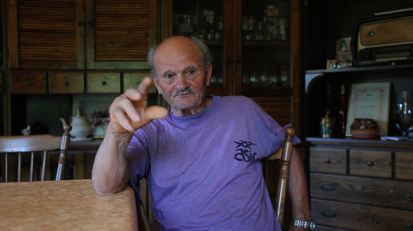 still image of Raffaele Capaldi from the series of research interviews made by Valentina Bonizzi and Deirdre MacKenna in 2012 © Valentina Bonizzi and Cultural Documents