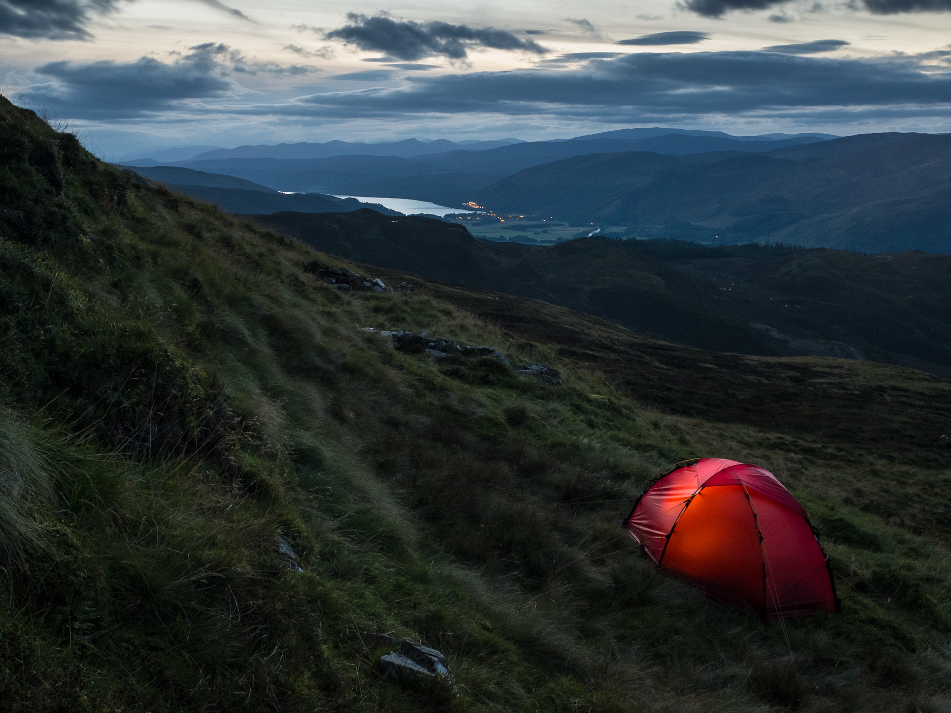 North Observatory Camp. Site of Maskelyne's Observatory on Schiehallion (1774) for The Well at the World's End. 2016 © Alexander and Susan Maris